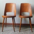 Lot 4 chaises baumann 60's