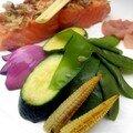 Poêlée de saumon et de légumes à la citronnelle (Epices et compa