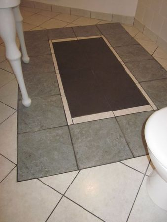 Plan de montage de la pose du carrelage fa on tapis de for Comment poser du carrelage dans un escalier