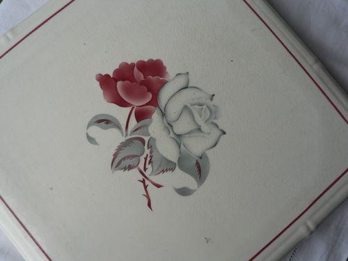 Dessous de plat Rose blanche