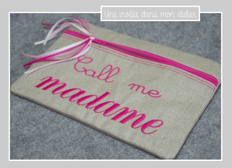 trousse-call me madame-fuschia