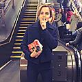 Des livres dans le métro londonien