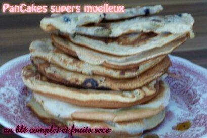 """ღ """" MIAM """" Pan Cakes Super Moelleux au blé complet et fruits secs & Natures"""