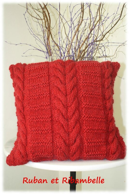 Coussin tricot 4