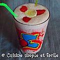 Milk shake banane - fraise - vanille