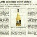 Le drapeau breton comme étiquette de vin de loire-atlantique: illégal!
