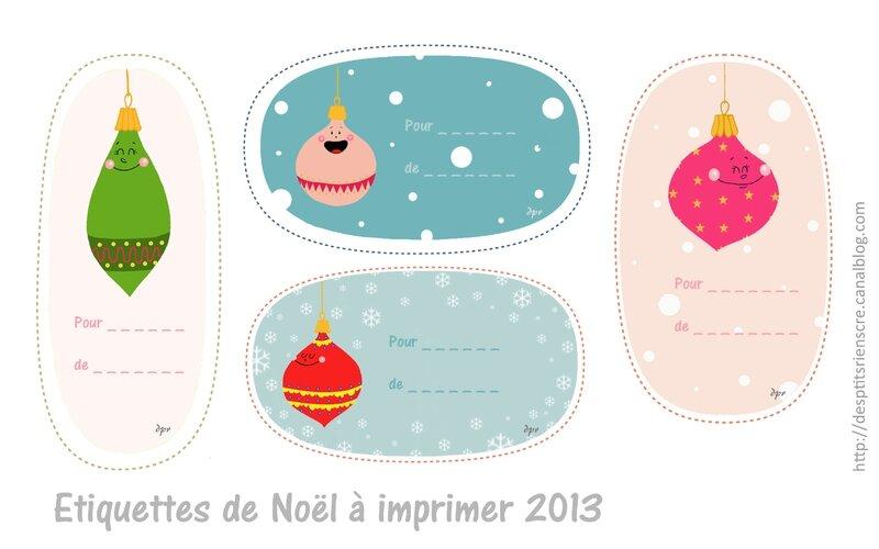Etiquettes de noël 2013