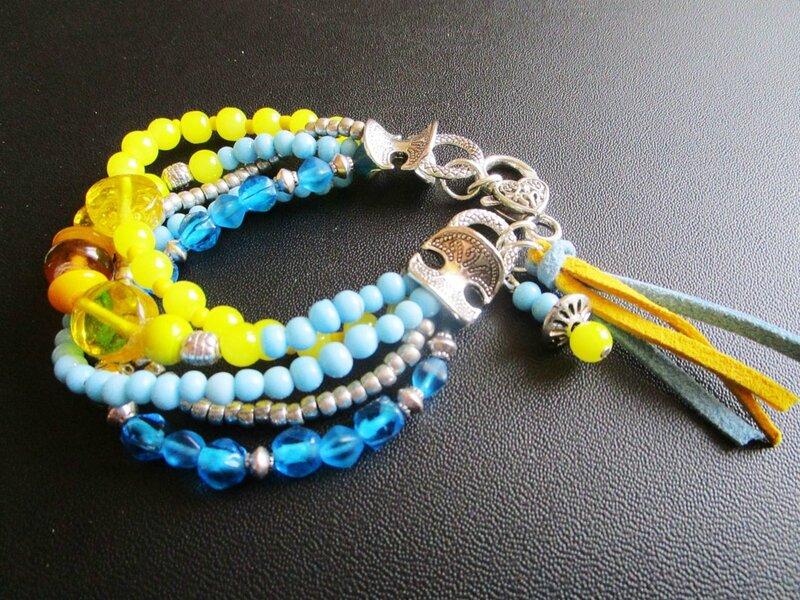 bracelet bobo jone et bleu 2