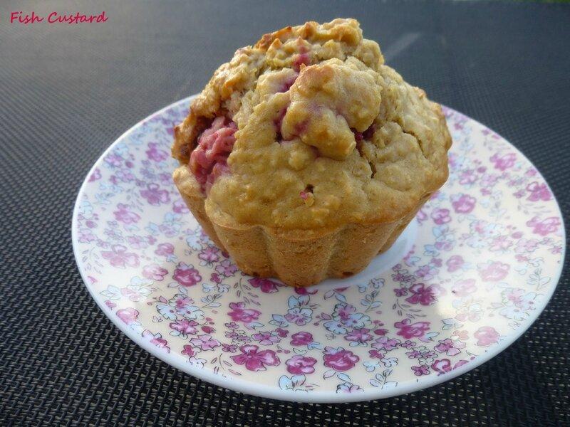 Muffins sains aux flocons d'avoine et framboise (10)
