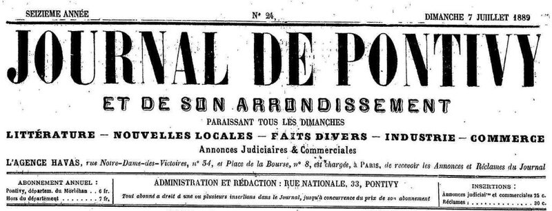 Presse Journal de Pontivy 1889_1