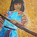 petite fille en thailande