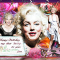 Wallpapers / fond d'écran anniversaire marilyn