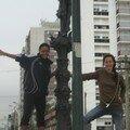 Jo et moi a Santos