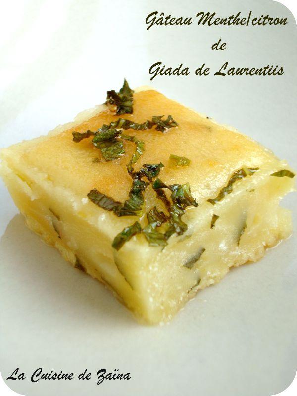 gâteau menthe citron de Giada de Laurentiis