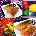 Papillons feuilletés à la viande et aux poivrons, tomates