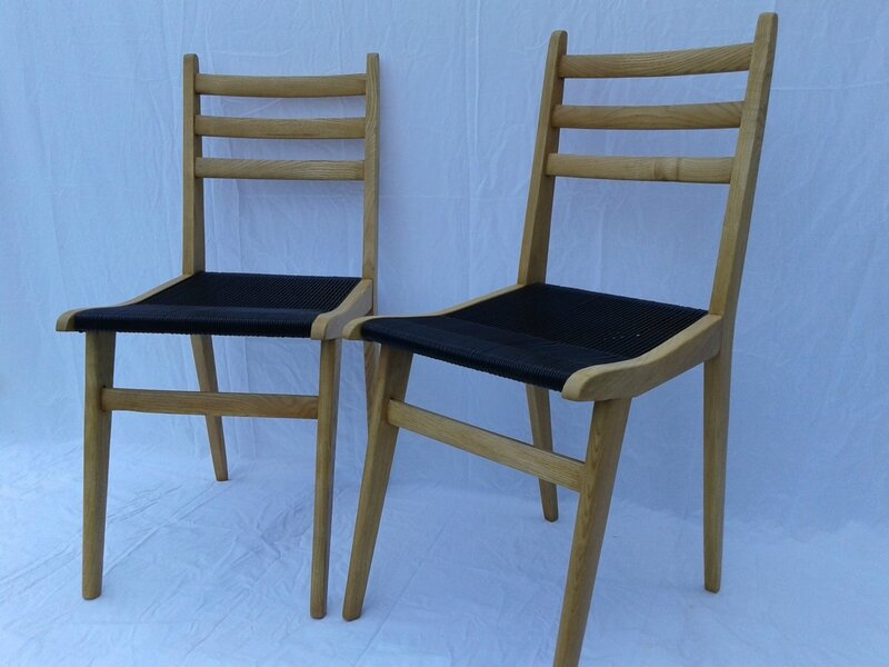 chaises scandinaves bois et scoubidou r serv es relook 39 vintage. Black Bedroom Furniture Sets. Home Design Ideas