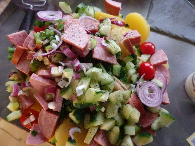 salade pâtes, fimo et roulade 001