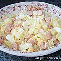 Salade de pomme de terre et knacki