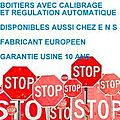 BOITIERS AVEC CALIBRAGE ET REGULATION AUTOMATIQUE NEWS