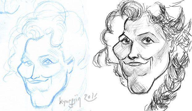 Sigourney Weaver esquisse