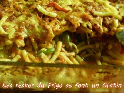 """ღ """" Miam """" Les restes du Frigo se font un Gratin"""