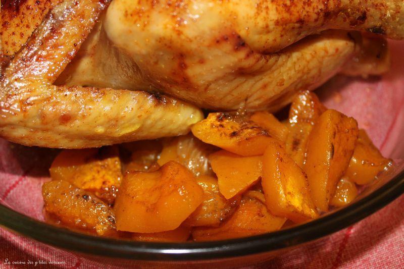 poulet roti dore au miel