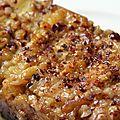 Cake tatin rhubarbe et noisettes