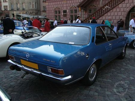 Opel rekord d 1900 automatic coupe 1972 1977 Festival Automobile de Mulhouse 2011 2
