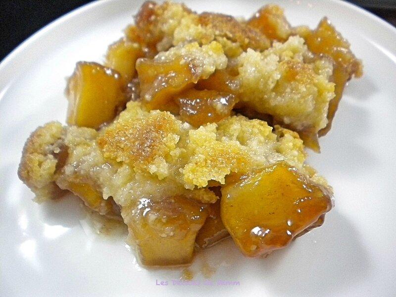 Crumble aux pommes et caramel au beurre salé de Cyril Lignac 4