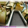 La suite des amuses bouches d't... les rouls de courgettes