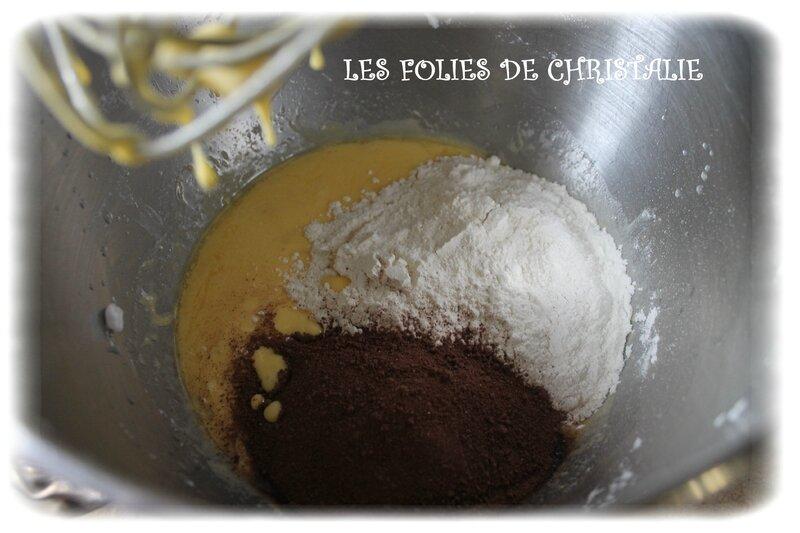 Gâteau magique chocolat bananes 5