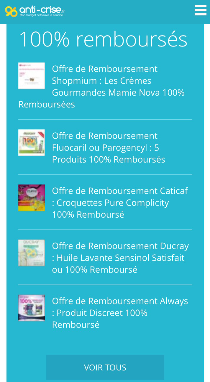 Mes coupons reductions