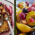 Crumble prunes & fruits rouges