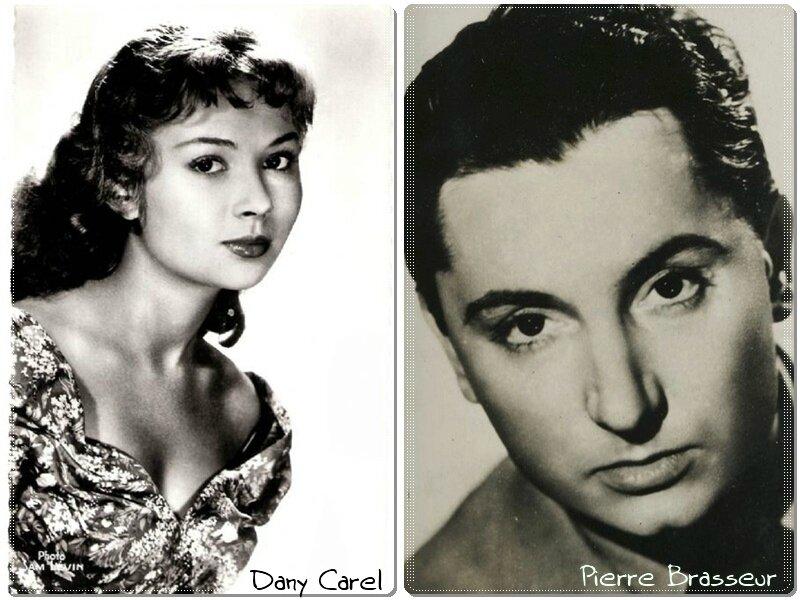 Dany Carel et Pierre Brasseur