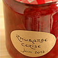 COMPOTE OU CONFITURE ? ... RHUBARBE & CERISE !