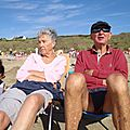 Deux secouristes de plage (Douarnenez, août 2011)