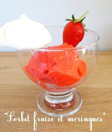 sorbet fraise et meringues 2