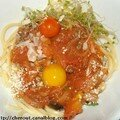 Spaghetti sauce tomate aux anchois