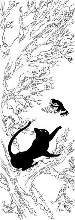 chat noir neige blanche nancy pe a. Black Bedroom Furniture Sets. Home Design Ideas