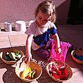 L'activité du mercredi - ranger par couleur...
