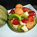 Melon farci (salade de fruits)