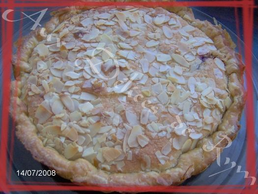 Ma tarte amandes/fruits rouges