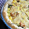 Quiche au poulet au curry et aux brocolis