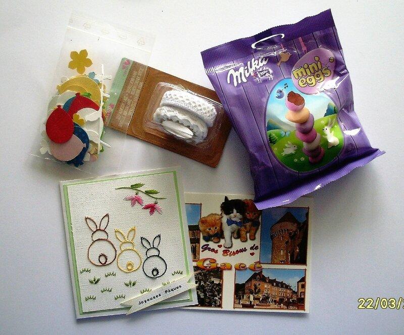 reçu de Martine (chatou61) le 22-03-2017 pour échange de Pâques (1)
