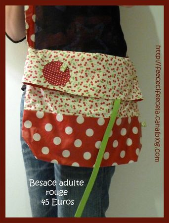 besace adulte rouge (Large)