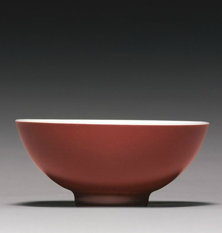 A copper-red-glazed bowl, Yongzheng mark and period