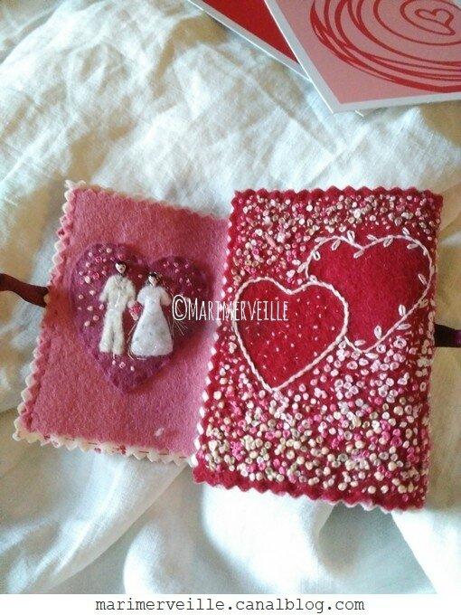 carnet Saint Valentin 2 - création exclusive Marimerveille
