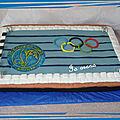 Gâteau piscine olympique
