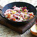 Salade ukrainienne à la betterave et à la choucroute de navets