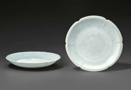 A pair of Qingbai small lobed dishes, China, Southern Song-Yuan Dynasty, 12th-13th century